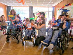Freizeitveranstaltung für Kinder mit geistigen und körperlichen Behinderungen