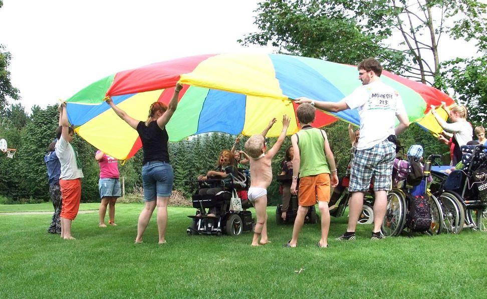 INTENSIVkinder Freizeit mit behinderten Kindern, ermöglicht durch Ihre Spende.